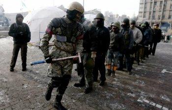 """МВД Украины: """"Правый сектор"""" ушел из гостиницы """"Днепр"""" без оружия"""