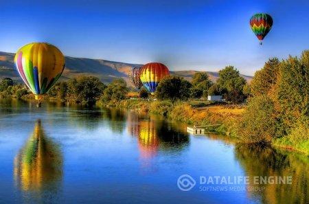 Полет на шаре вид на столицу с высоты птичьего полета